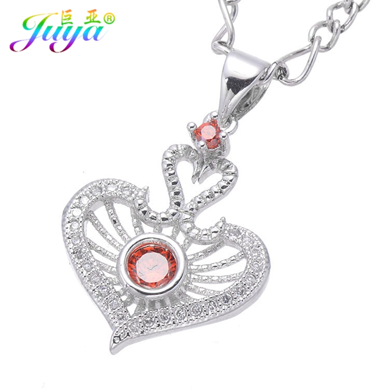 Dropshipping Couple Jewelry Supplies Micro Pave Zircon Poker Red Heart Pendant Necklace For Women Wedding Party Jewelryr