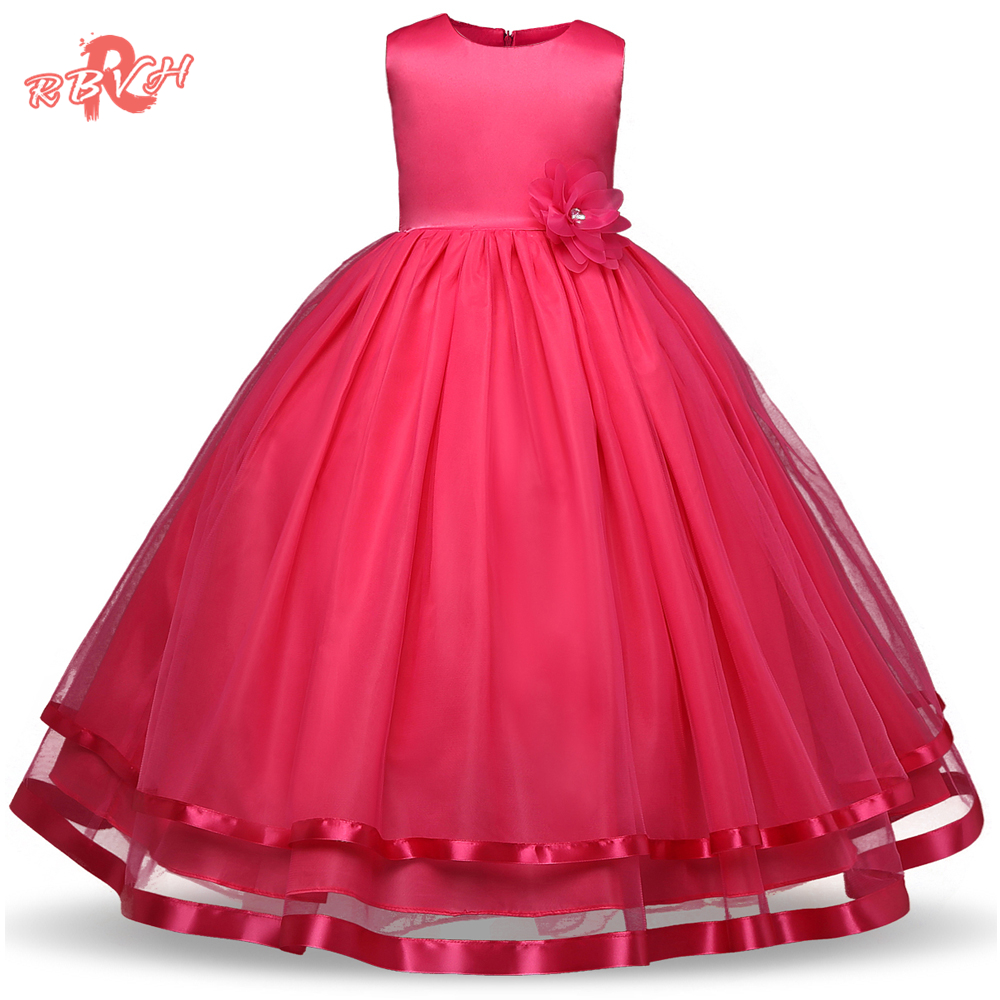 RBVH Flower Girl Dress For Weddings Kids Prom Gown Designs Fancy ...