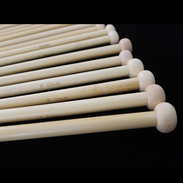 PHFU Ostart 18 размеров 14 ''(36 см) Один острый бамбуковый набор спиц (2,0 мм-10,0 мм)