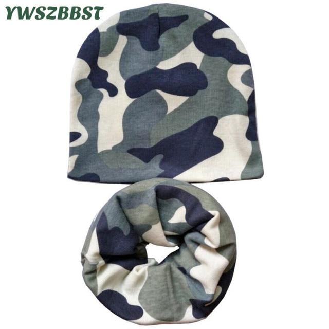 Autumn Winter Cotton Baby Hat Camo Print Crochet Children Hats Boys Girls  Skullies Beanies Cap Scarf 485b77c40aa5