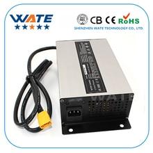 Cargador inteligente 37,8 V 18A 33,3 V batería Li ion cargador usado para 9 S 33,3 V batería de litio entrada 220 V caja de aluminio