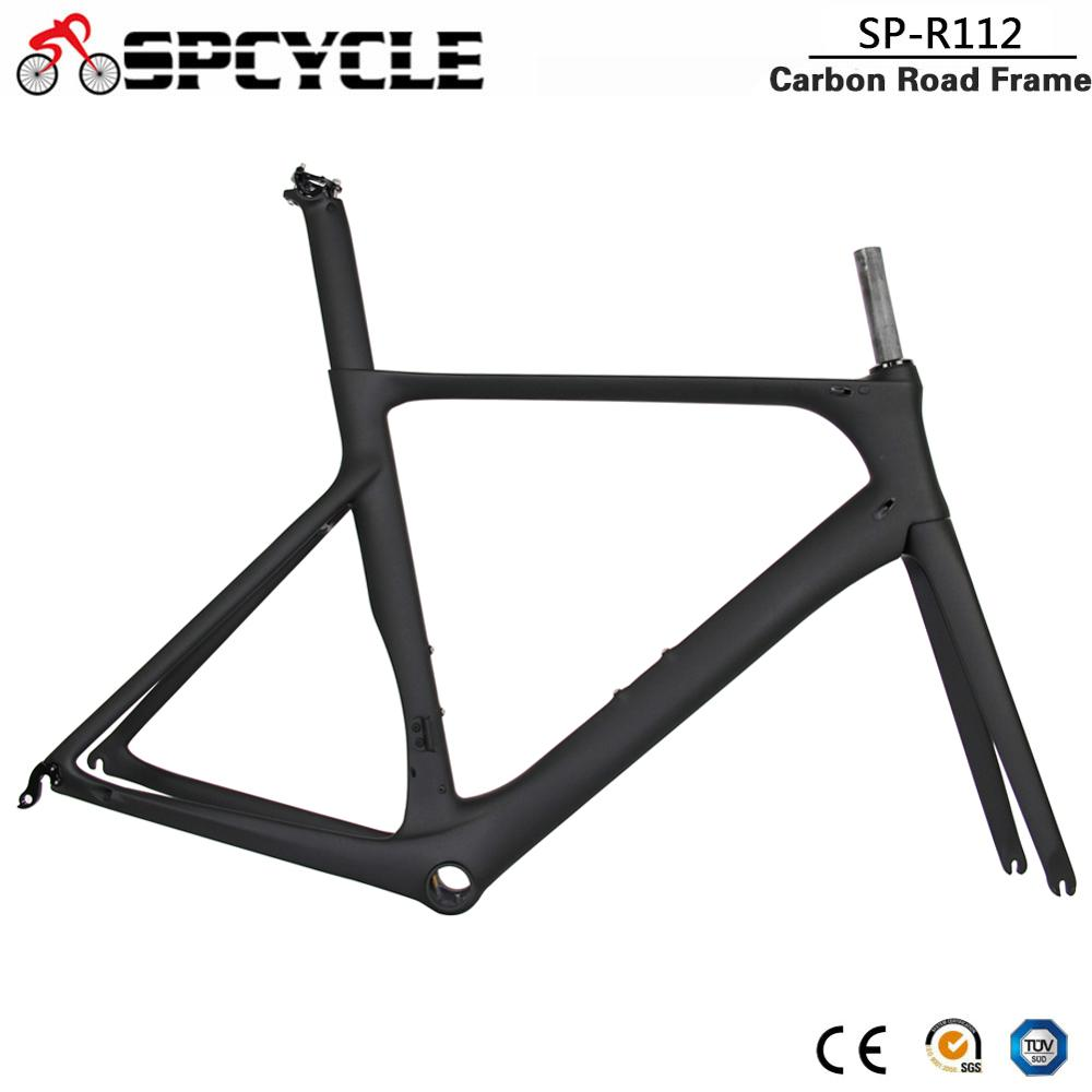 Spcycle 2019 New T1000 Carbon Road Bike Frame Aero Cycling Racing Bicycle Carbon Frameset Carbon Road Bicycle Frames BB86