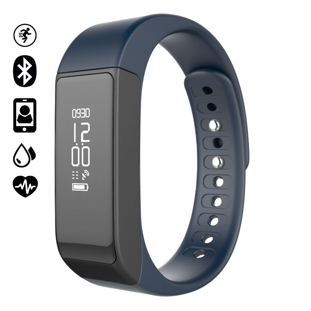 I5 Plus Smart Bracelet IP67 Bluetooth 4.0 Watch Wristband Sleep Monitoring Sports Tracking Remote Camera smartwatch band Android