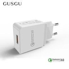 Usb-Charger Fast Travel-Adapter Eu-Plug Mobile-Phone Xiaomi 7-iPad Samsung GUSGU
