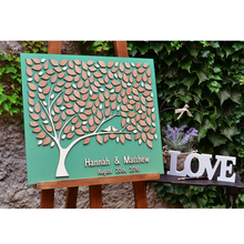 Personalized Wedding Gifts For Guests, Wooden Guest Book Sign, Rustic Tree With Couple Names&Date,3D Books