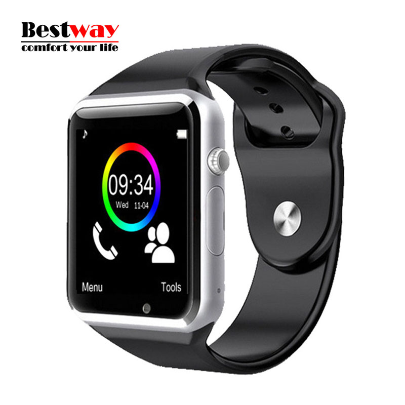 A1 Smart Bluetooth Watch font b Smartwatch b font Android Camera Support SIM TF Card Sleep