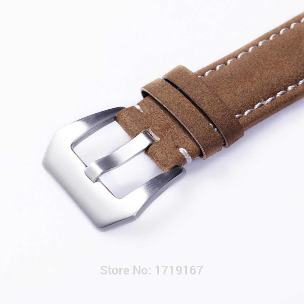 18 20 22 24 Mm Anti-Air Beku Cowhide Kulit Jam Tangan Tali Tali Gelang dengan Gesper PVD PAM untuk Tissots Tali Jam + Alat