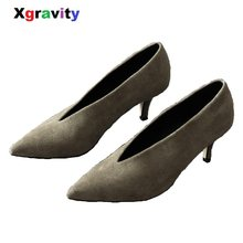 8665dcf434ea Xgravity Sexy Designer Pumps New Spring Autumn Pointed Toe Thin Heel Woman  Shoes Unique Lady Fashion