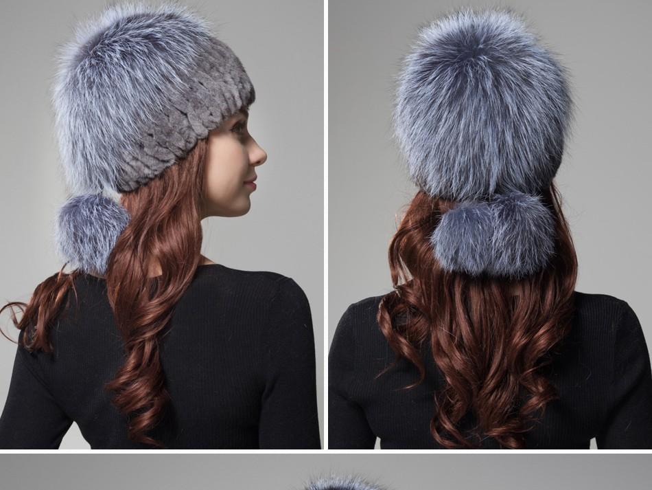 fur woman winter hats PCM012 (19)