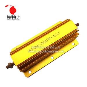 Estojo de metal resistor de wirewound, 200w resistor de revestimento de alumínio 0.1 ~ 1k 0.15 0.2 0.5 1 1.5 2 6 8 10 15 20 100 150 200 1k ohm