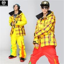 Гарантируем подлинность! StormRunner мужской лыжный костюм куртка + брюки набор водостойкий термальный хлопок-мягкий сноуборд мужские лыжные наборы