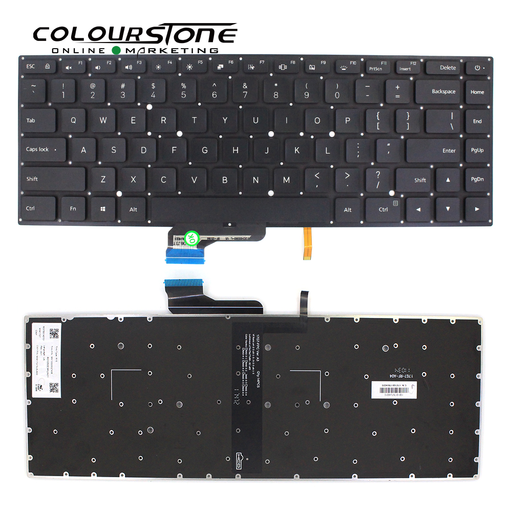 Laptop Keyboard for EPIK ELL1401 14 Ultra Slim Laptop English US Black Without Frame New and Original