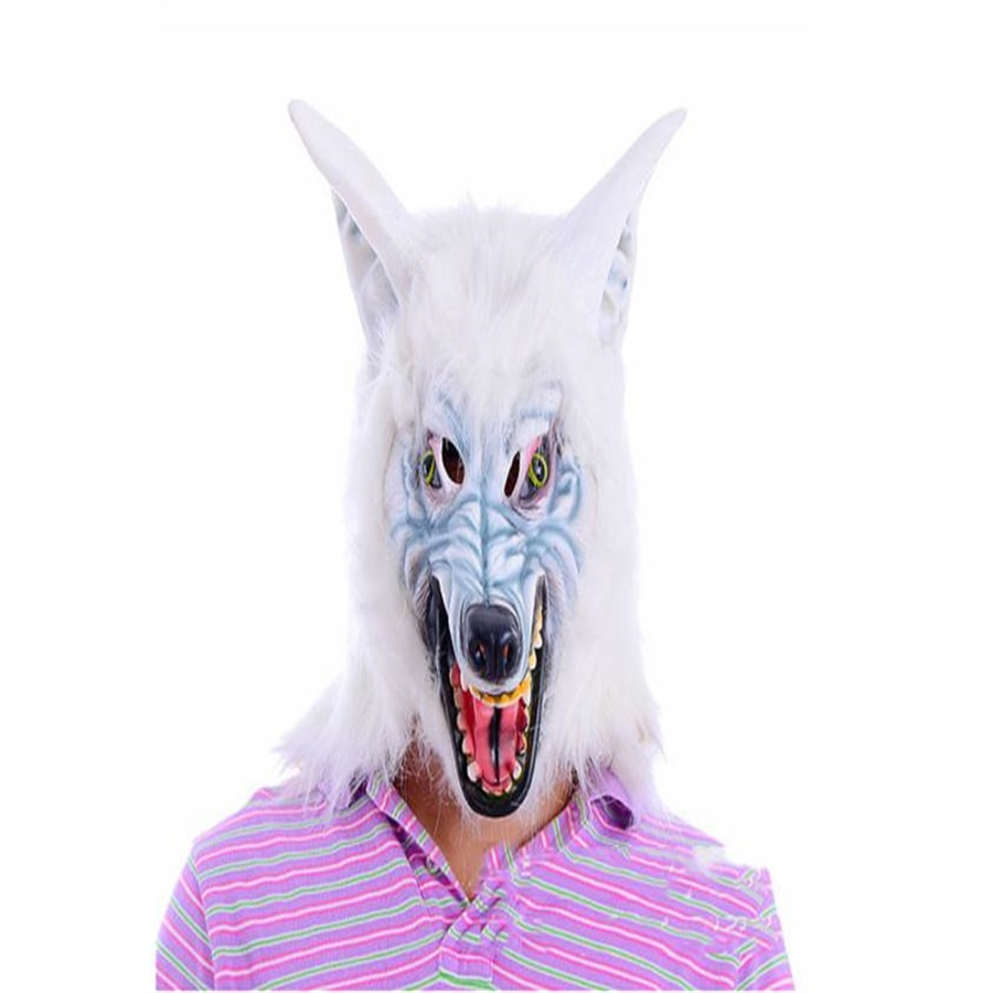 hot sale screaming horror magical unicorn head mask scary halloween cosplay costume halloween decorations snow wolf