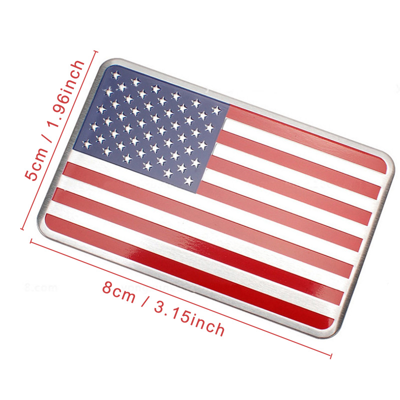 DSYCAR Metal American US Flag Car sticker logo Emblem Badge Car - Exteriör biltillbehör - Foto 2