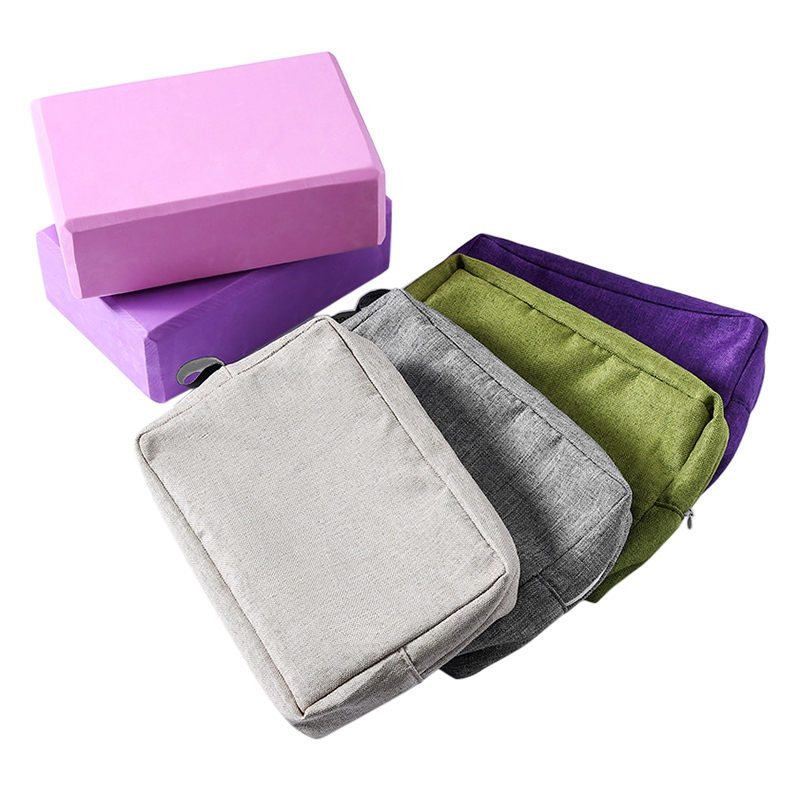 Polyester Yoga Block CoverFitness Block Cover Lightweight Zipper Polyester Brick Storage Bag Yoga Props Training Accessories
