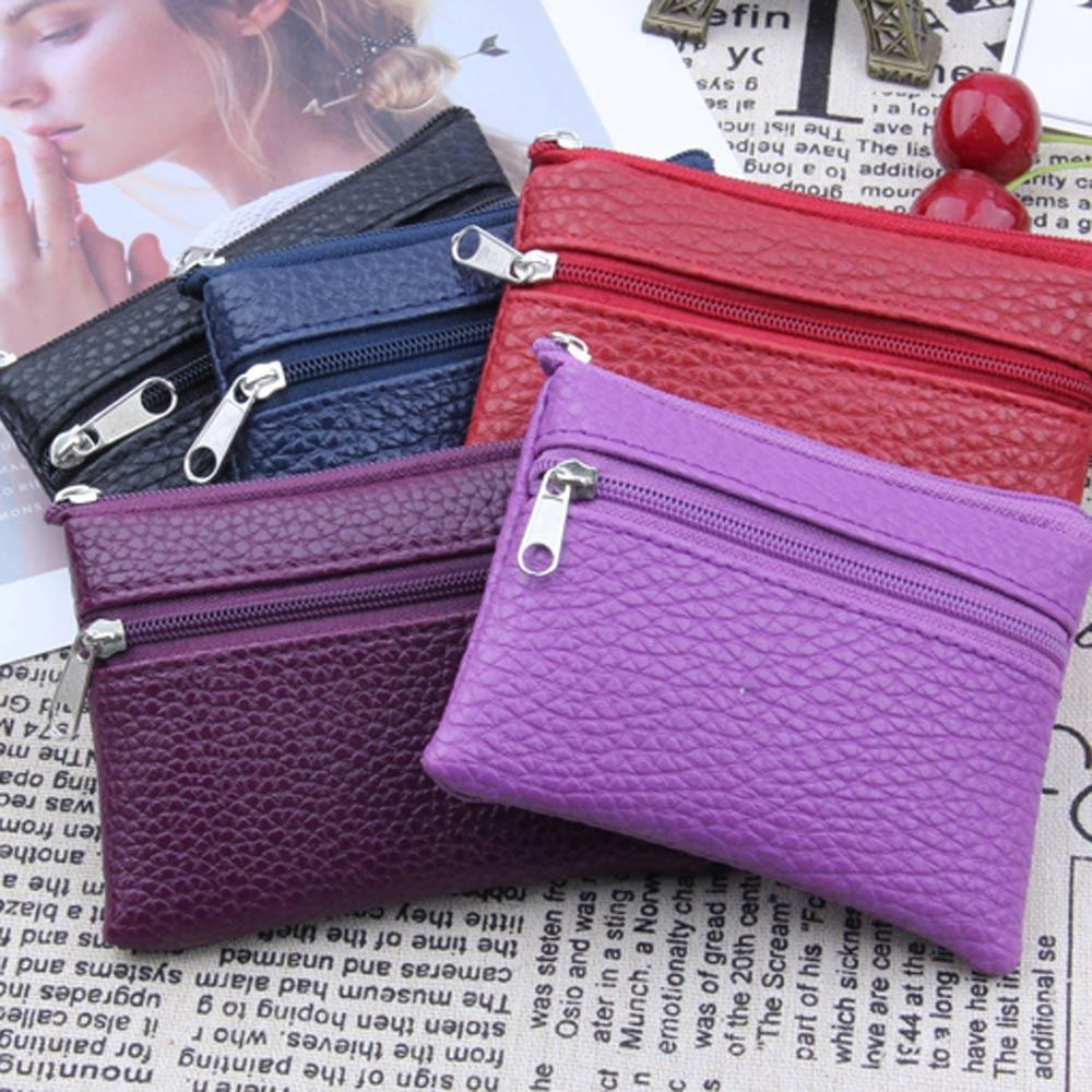 2019Top Women Wallet Women Men Leather Wallet Multi Functional Zipper Leather Coin Purse Card Wallet