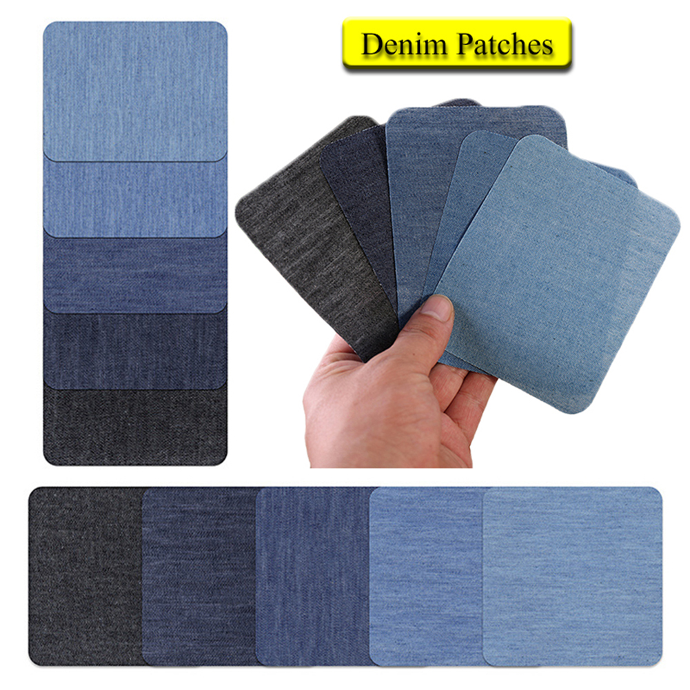 Denim Patches DIY Iron On Denim patches for clothing Elbow Repair Pants For Jean Clothing And Jean Pants Apparel Sewing Fabric