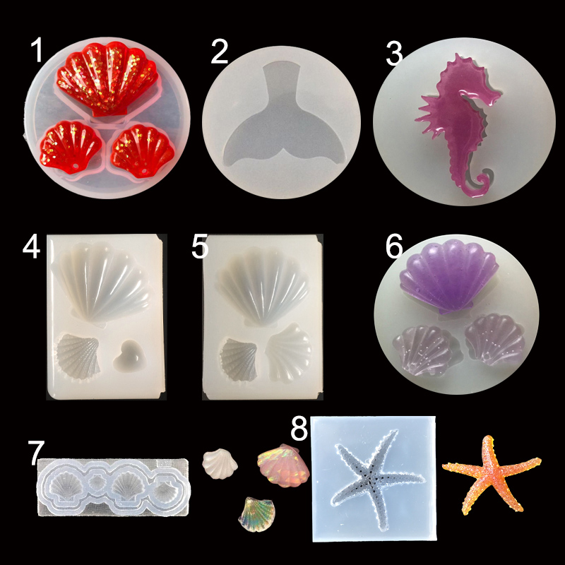 1PC Shell Silicone Jewelry Molds Expoxy Handcraft Resin Mold Pendant Accessories  Jewelry Making Tools