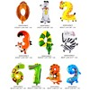 6 Inches Animal Cartoon Number Foil Balloons Party Hat Digit Air Ballons Birthday Party for Kids Toys flash sale