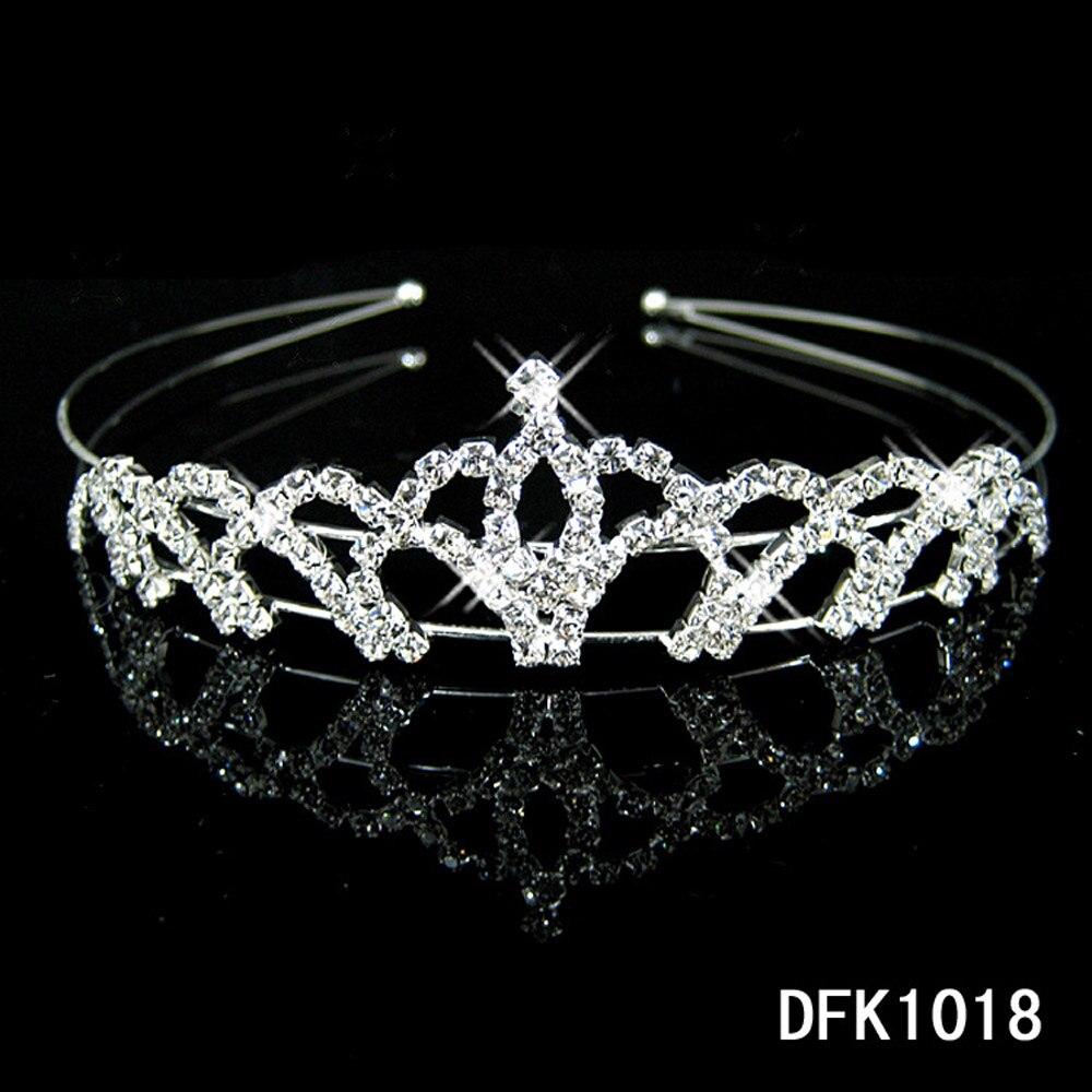 1 Pc Shiny Kristall Strass Perle Stirnband Hochzeit Braut Silber Hairwear Party Mädchen Tiara Blume Haar Bands Haar Zubehör Erfrischung