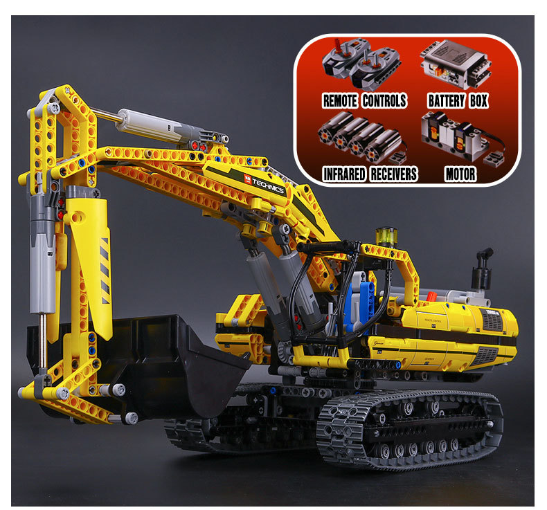 New LEPIN 20007 technic series 1123pcs excavator Model Building blocks Bricks Compatible Toy Christmas Gift 8043 Educational Car