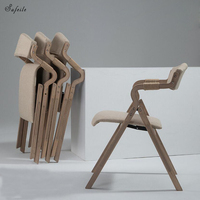 Outdoor Folding Chair Wooden Outdoor Office Folding Chair Living Room Dining Room Leisure Chair Modern Simple