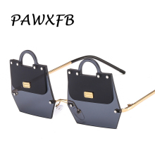 PAWXFB 2019 Vintage Special Sunglasses Women Men New Rimlesss Ladies UV400 Shades