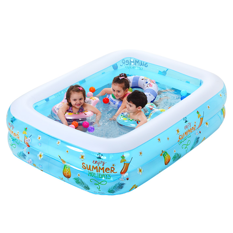Thicker version deluxe edition 2 meters large family luxury inflatable swimming pool game pool children's play pool environmentally friendly pvc inflatable shell water floating row of a variety of swimming pearl shell swimming ring