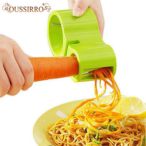 Multifunction Spiral Vegetable Cutters Premium Dual Grater Knife Sharpener Noodle Cutter Noodle Noodle Spaghetti kitchen tools(China)