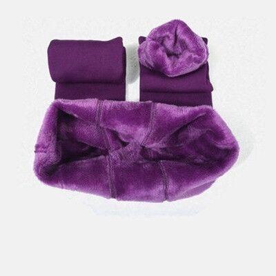 CHRLEISURE Warm Women's Plus Velvet Winter Leggings Ankle-Length Keep Warm Solid Pants High Waist Large Size Women Leggings 8