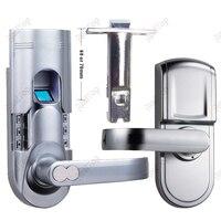 Right Handed Keypad Keyless Locks Biometric Fingerprint Door Lock with Single Latch