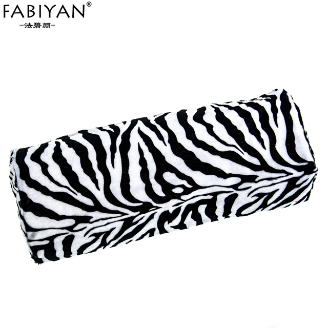 Professional New Zebra Soft Stripe Design Hand Rest Holder Cushion Pillow Nails Nail Art Manicure Tool Half Column