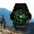 Quality Men's Double Time Stopwatch Waterproof Sport Mountaineer Dial Quartz Wrist Watch 6EYJ