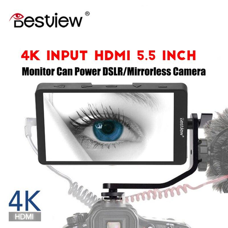 Bestview S5 5.5 inch 4K input narrow screen side monitor for SONY NIKON CANON DSLR and ZHIYUN Crane 2/DJI RONIN S/MOZA Aircross видеокамера sony fdr x1000v 4k