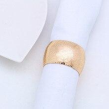 12PCS metal napkin buckle ring Western circle round