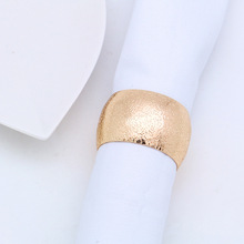 6PCS metal napkin buckle ring Western circle round