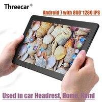 10,1 дюймов Android 7,0 подголовник автомобиля монитор 1920*1080 HD ips Сенсорный экран 4G WI FI USB/SD/HDMI /IR/FM спереди и сзади Камера игры APP
