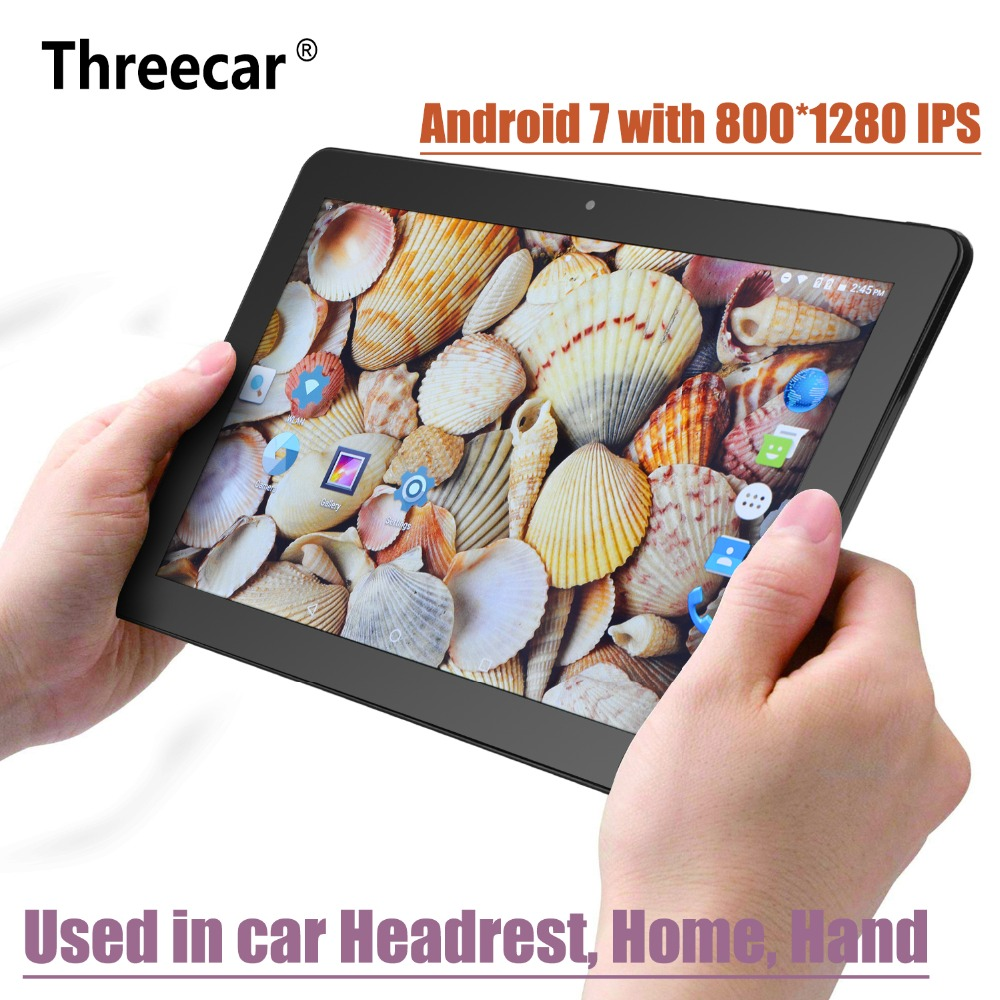 10.1 Inch Android 7.0 Car Headrest Monitor 1920*1080 HD IPS Touch Screen 4G WIFI USB/SD/HDMI/IR/FM Front Rear Camera Games APP цена