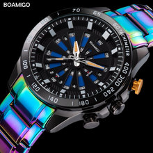 BOAMIGO Men Watches Creative Sports Watches For Man LED Digital  Steel Quartz Wristwatches Clock reloj hombre Relogio Masculino men sports watches boamigo brand man watch quartz digital wristwatches male rubber white clock relogios masculino reloj hombre