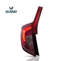 Vland Автомобильный задний фонарь для Fit/Jazz светодиодный задний фонарь 2014 2017 задний фонарь с DRL + Реверс + тормоз Комплект для освещения автомоб