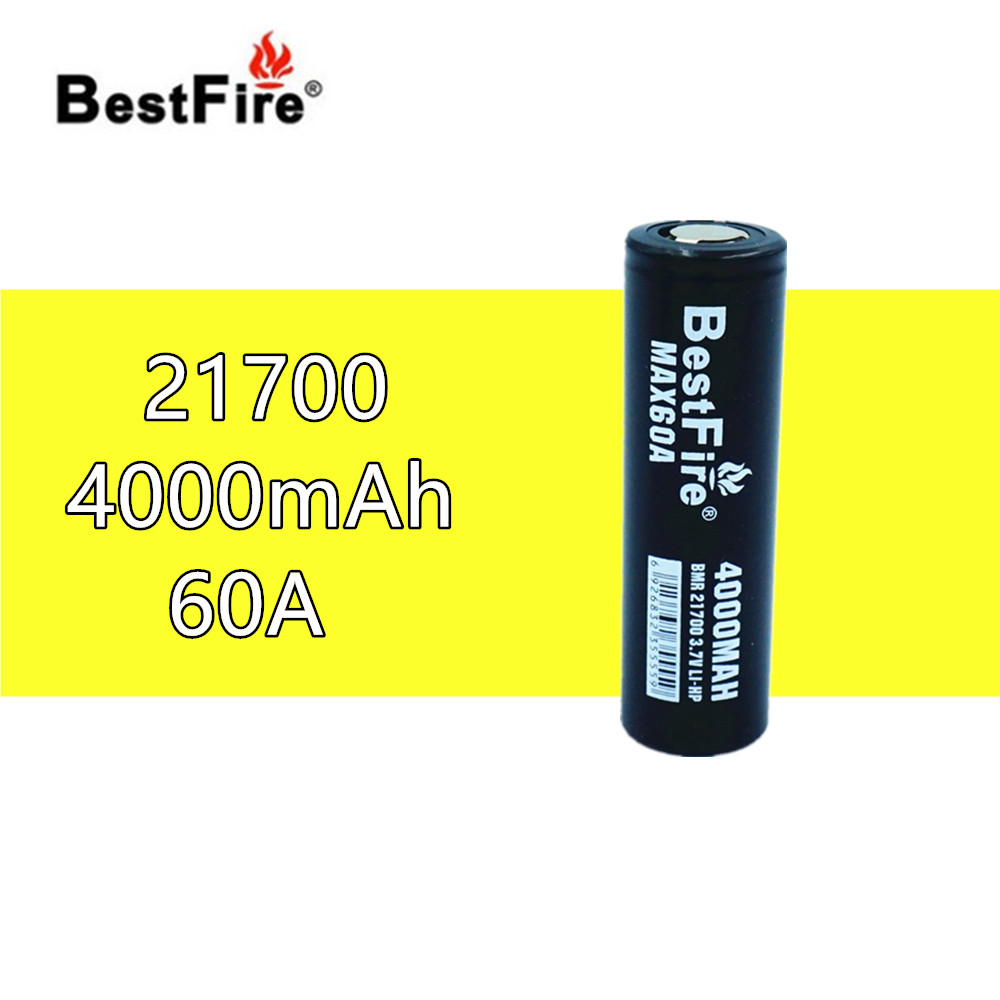 1 pcs BESTFIRE IMR 21700 4000mah 60A Flat Top Rechargeable Lithiun Battery for ECIG flashlight toy car notebook Li ion batterisRechargeable Batteries   -