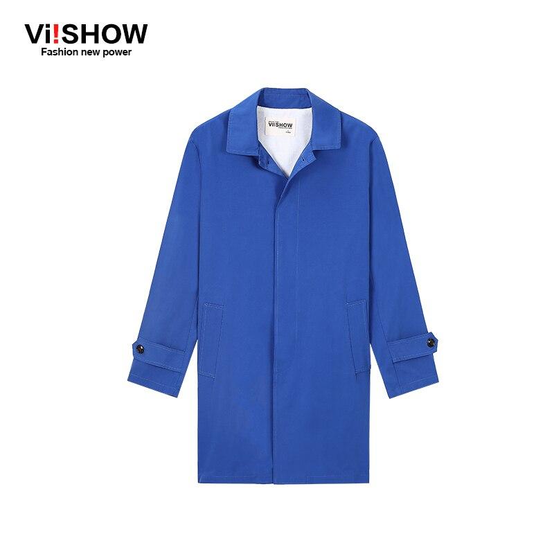Viishow Hot Classic 2017 Brand Men Single Breasted Trench Coat Men Outerwear Men's Jackets Windbreaker Mens Trench Coat M-XXL