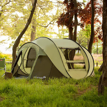 5-8 Person 282*215*126cm Single Layer Large Camping Tents Waterproof Windproof Automatic Tents Climbing Hiking Tent zenph children s camping tent outdoor indoor dual use tent automatic speed open tents automatic hiking beach tents barraca