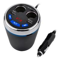 VODOOL Bluetooth FM Transmitter Dual USB Charger Car MP3 Player Hands Free Auto Cup Charger Cigarette