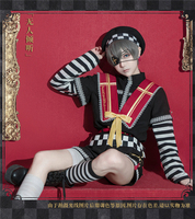 NEW!!Anime Black Butler Ciel Cosplay Costumes Man Uniform Daily Outfit For Halloween Free Shipping
