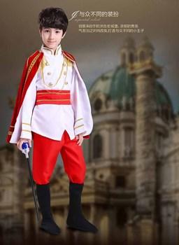 Fantasia Child Boy Kids Prince King Cosplay Fancy Dress Halloween
