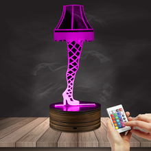 1Piece 3D Optical Illusion Leg Lamp From A Christmas Story Sexy Silk  Stockings Leg Nightlight Table