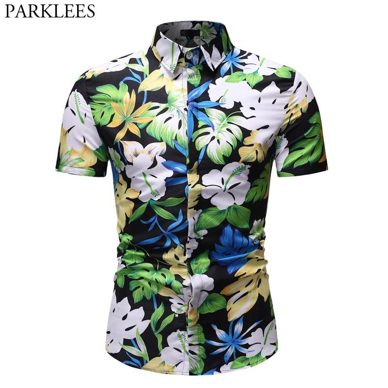 pipigo Men Long Sleeve Big /& Tall Plaid Print Button Down Loose Cotton Checkered Shirt