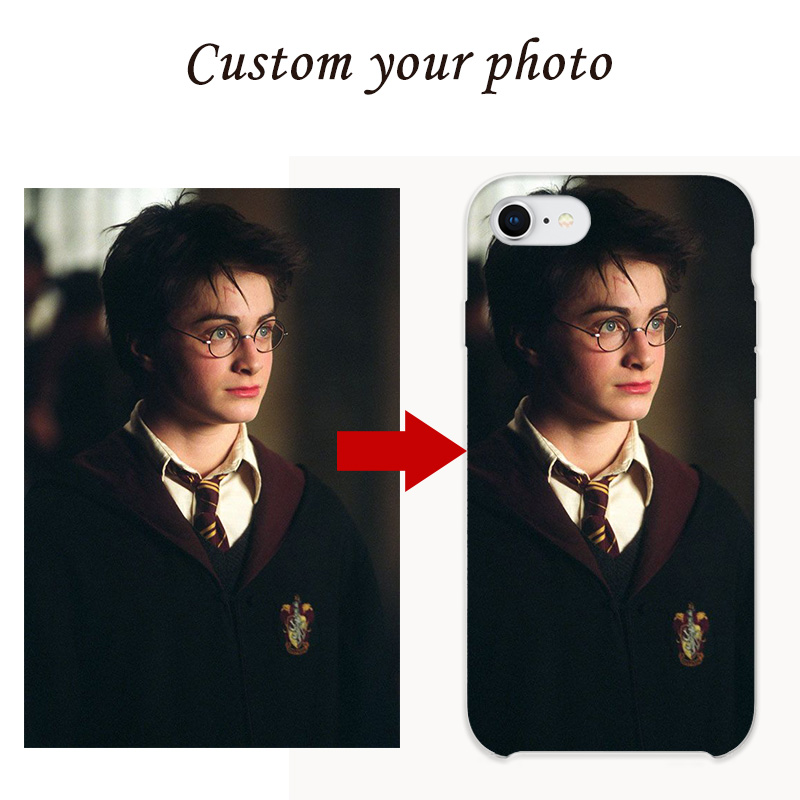 KUMLG Custom Personalized Phone <font><b>Case</b></font> For <font><b>iPhone</b></font> 6 6S 7 <font><b>8</b></font> Plus X S XS MAX XR Cover Customized Design Picture Logo <font><b>Harry</b></font> <font><b>Potter</b></font> image