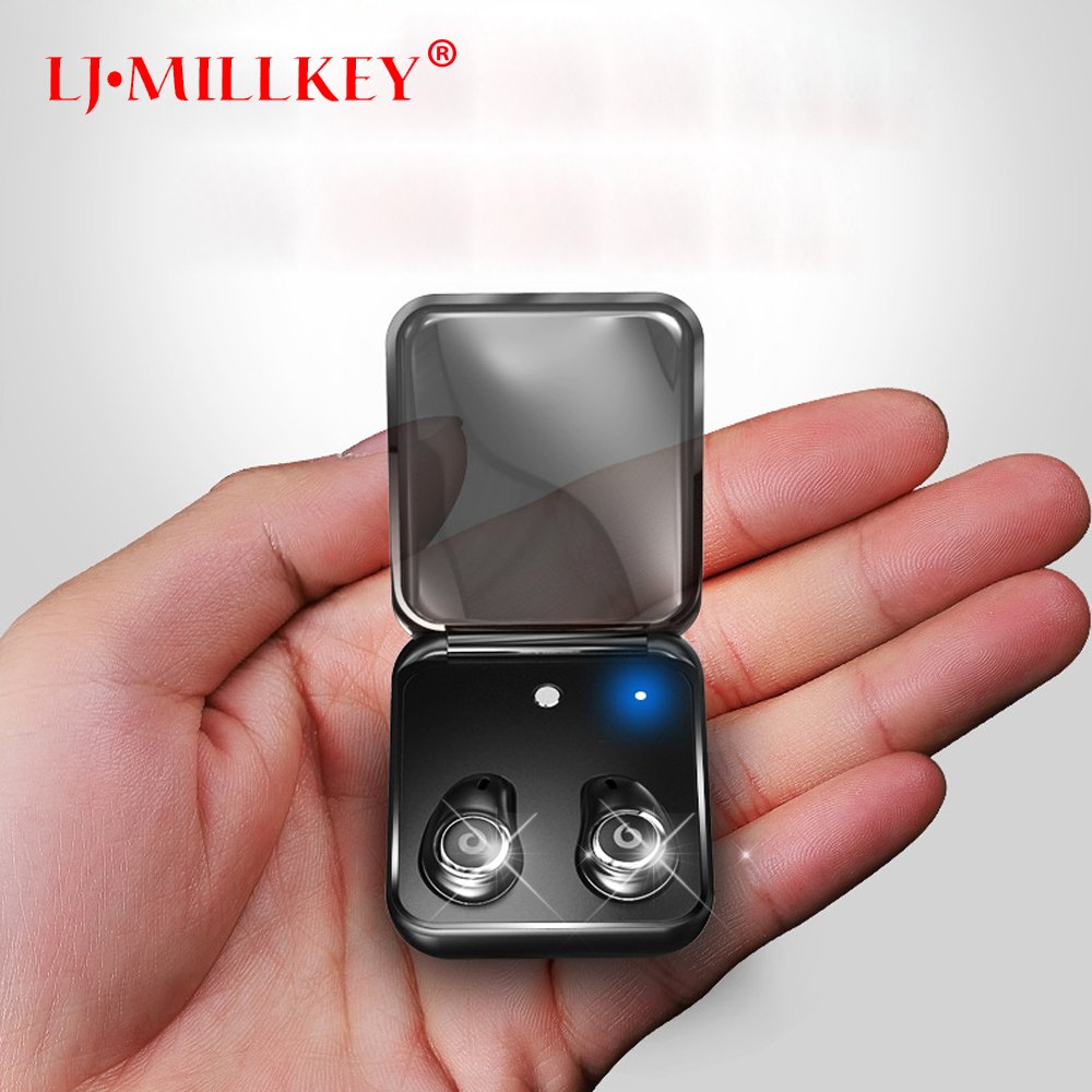 Bluetooth Headset Handsfree Earbuds TWS True Wireless Stereo Earphones with MIC charging box for Phone and All smartphones YZ148 aimitek k2 true wireless bluetooth earphones tws earbuds mini stereo headset handsfree with mic charging bank retail package box
